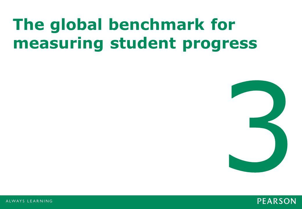 The global benchmark for measuring student progress