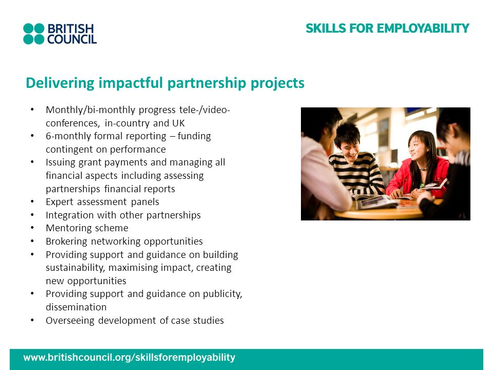 Delivering impactful partnership projects