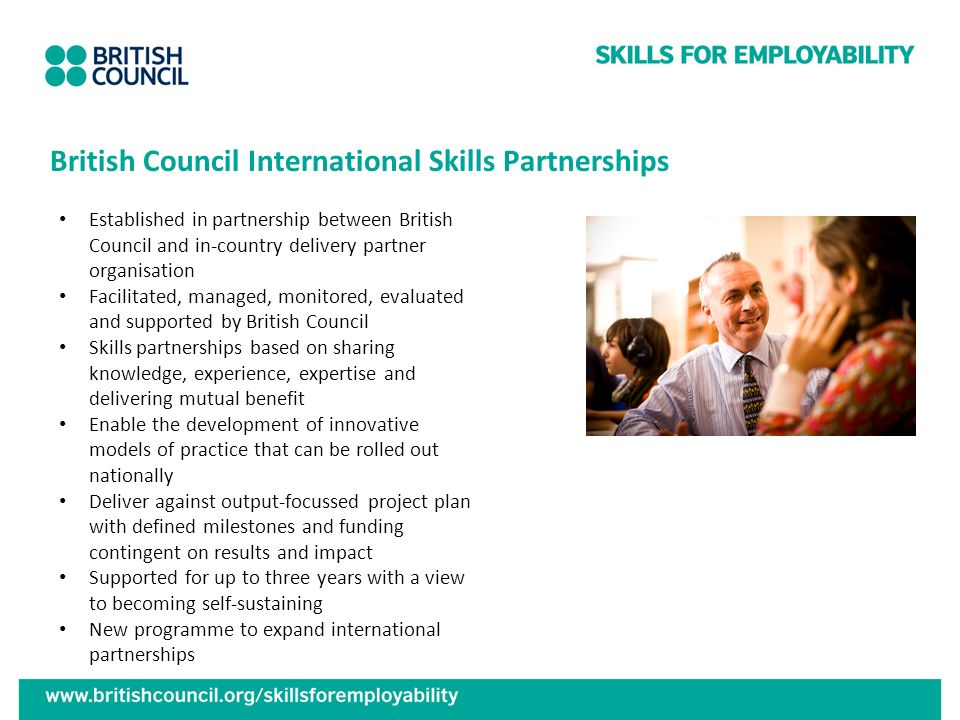 British Council International Skills Partnerships