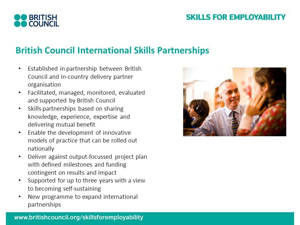 British Council International Skills Partnerships