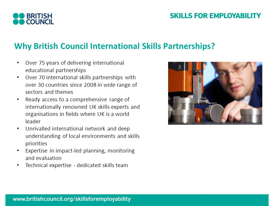 Why British Council International Skills Partnerships