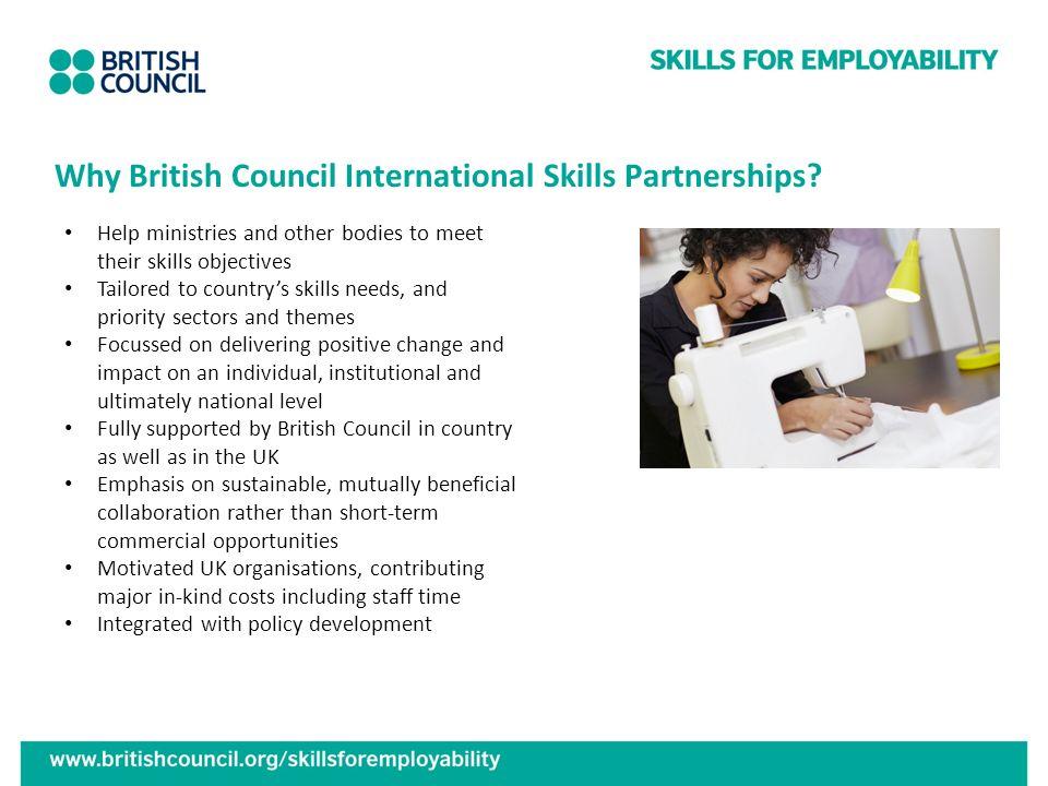 Why British Council International Skills Partnerships