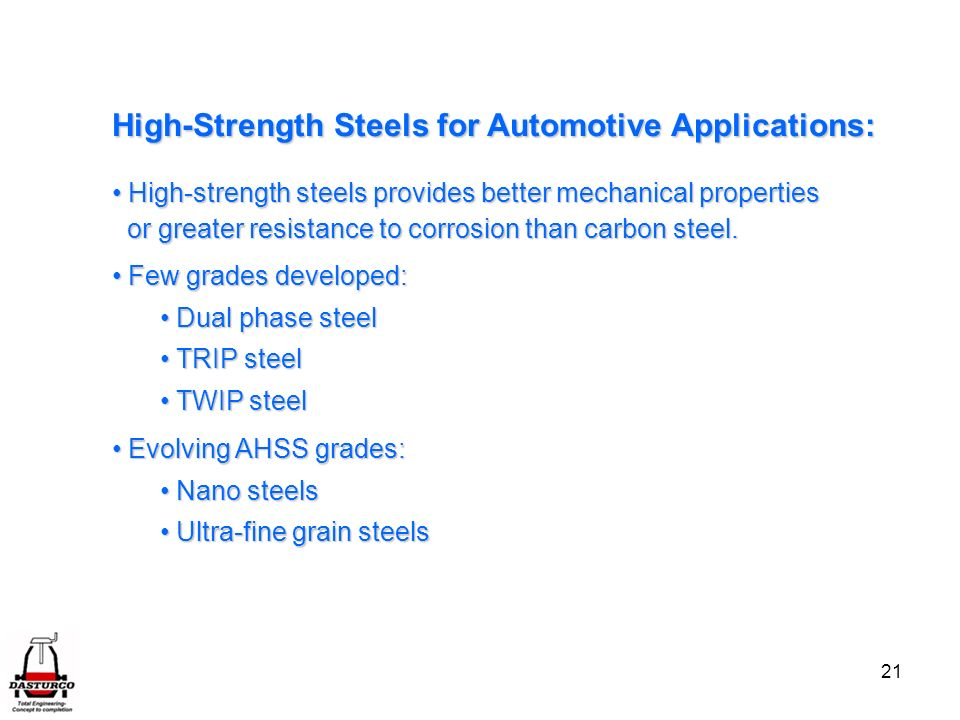 High-Strength Steels for Automotive Applications: