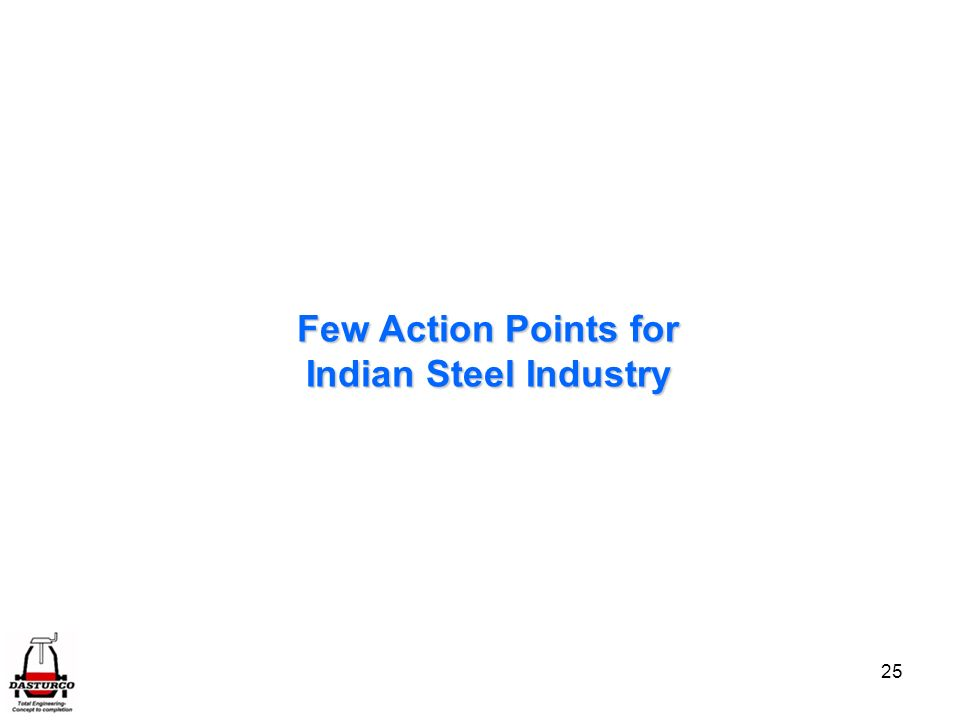 Few Action Points for Indian Steel Industry