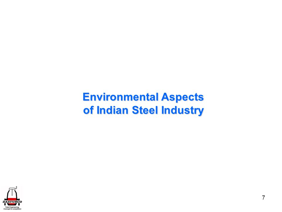 Environmental Aspects of Indian Steel Industry
