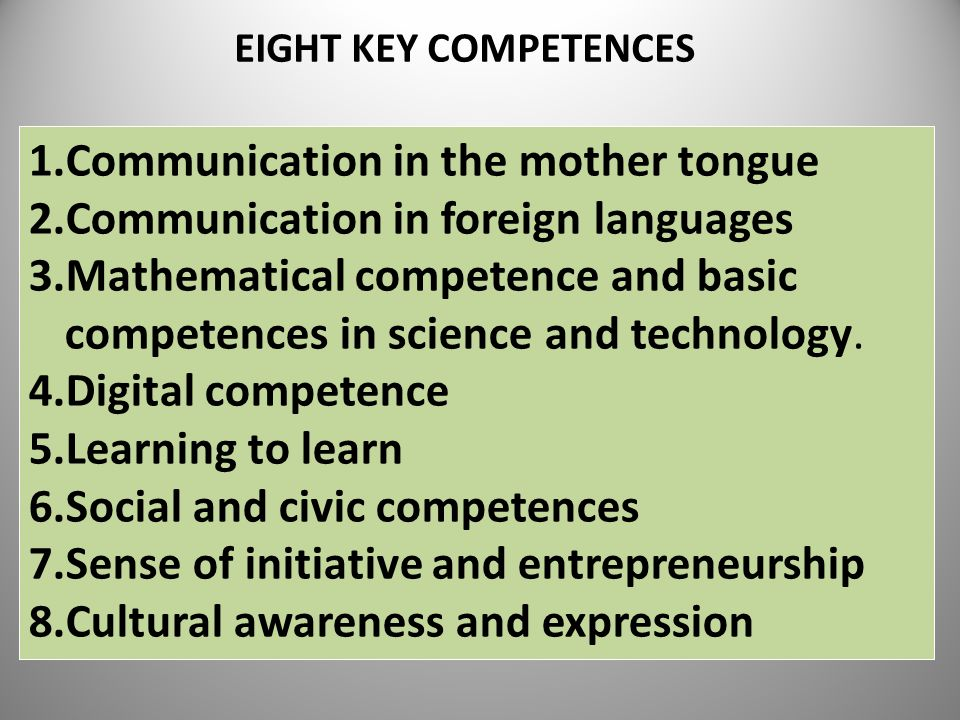 Communication in the mother tongue Communication in foreign languages
