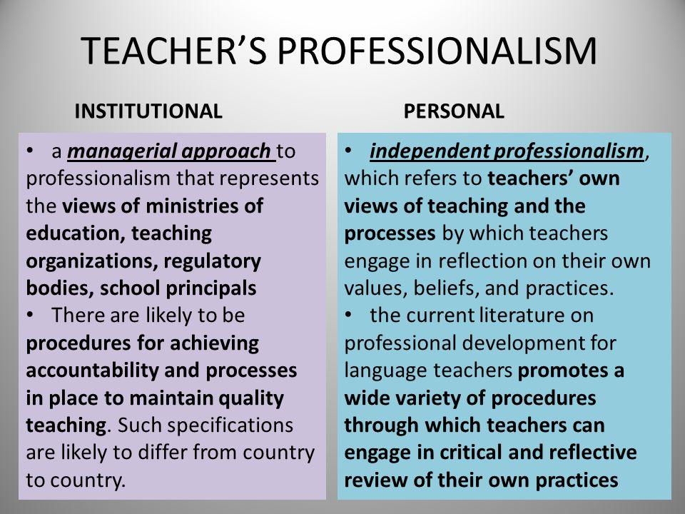TEACHER'S PROFESSIONALISM
