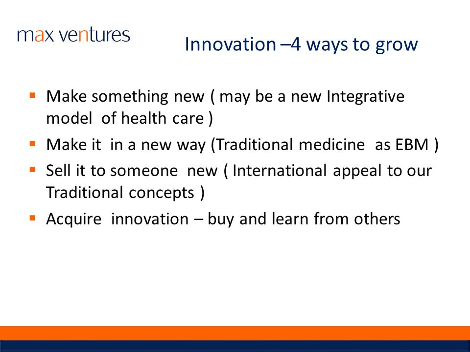 Innovation –4 ways to grow
