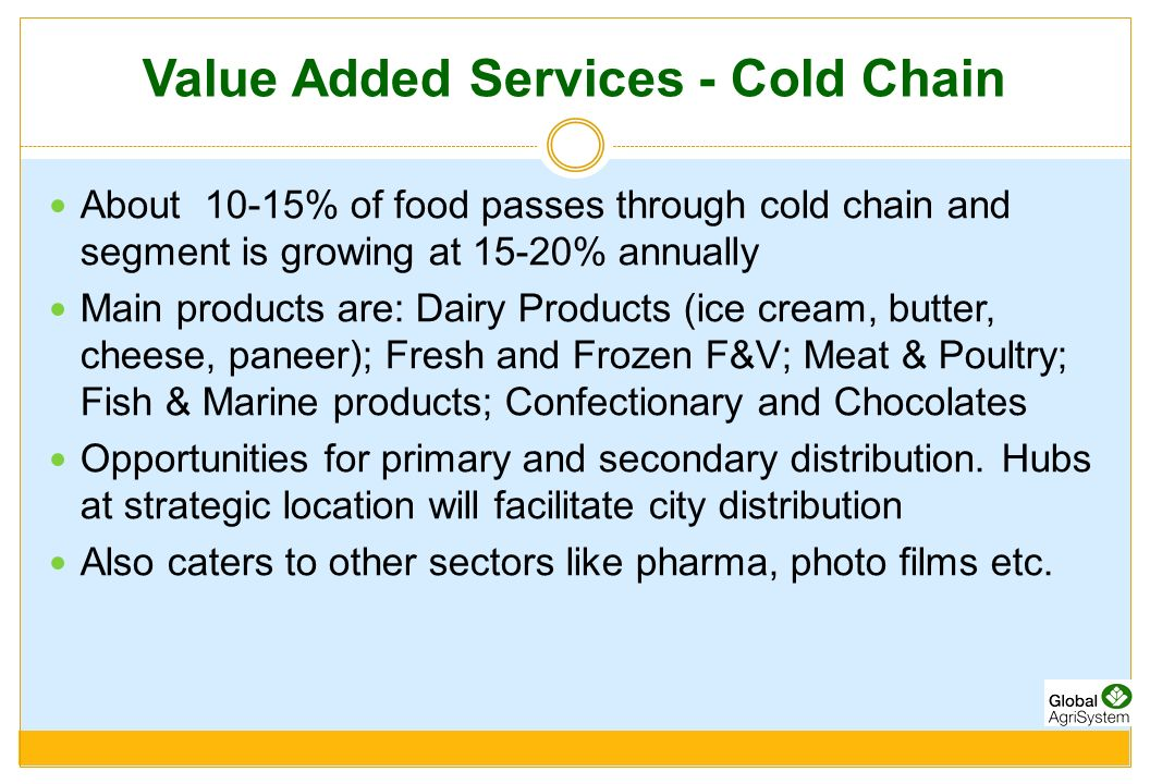 Value Added Services - Cold Chain