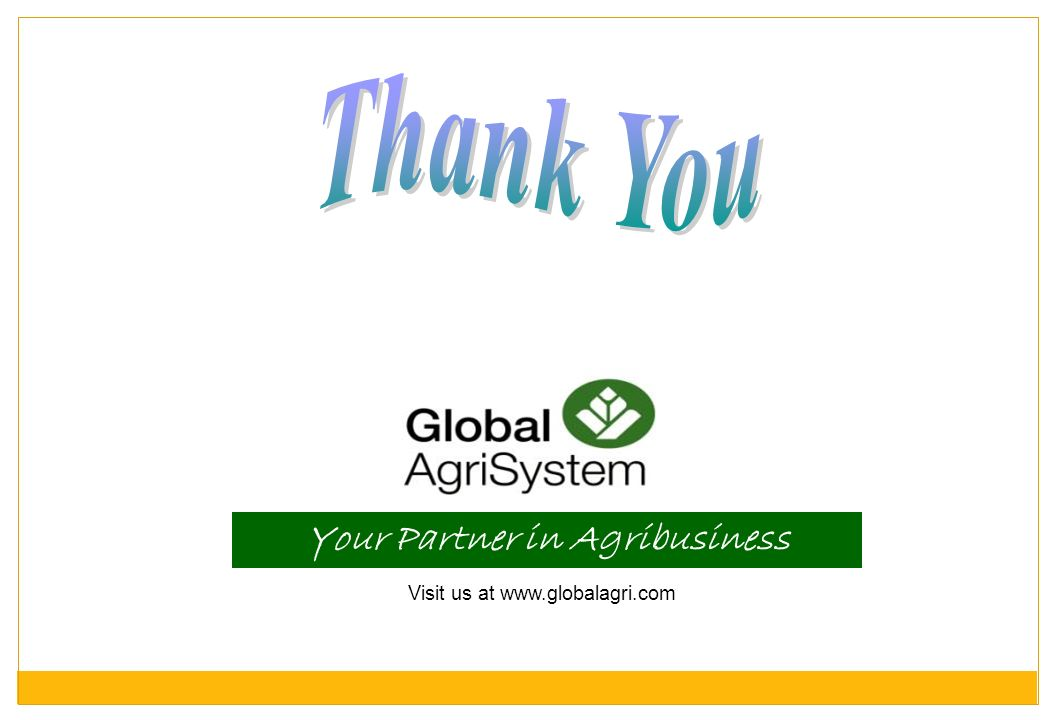 Your Partner in Agribusiness
