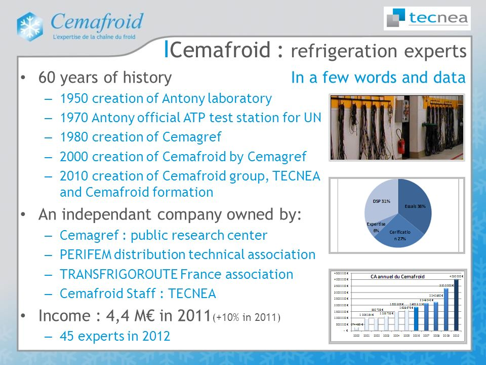 Cemafroid : refrigeration experts