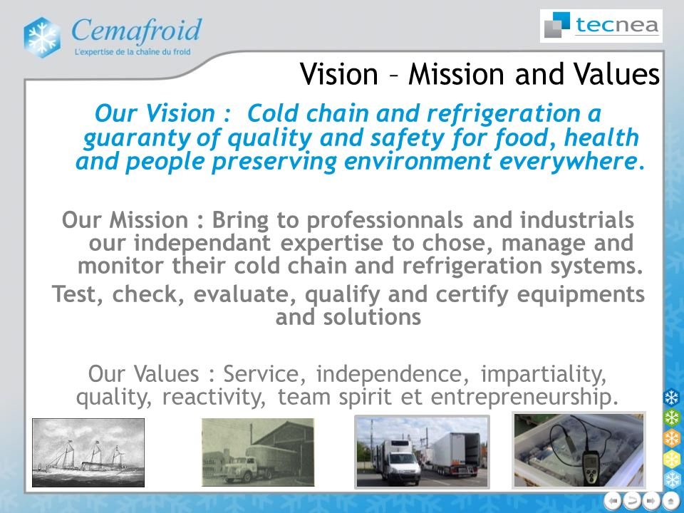 Vision – Mission and Values