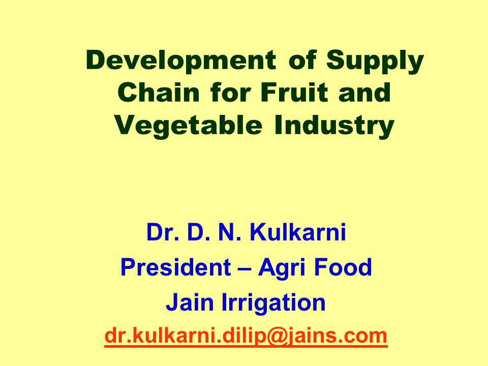 Pdf) supply chain management in agriculture.