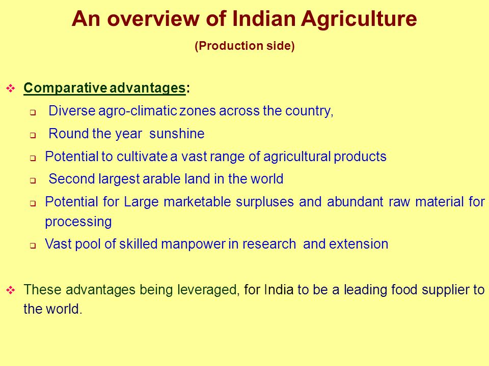 An overview of Indian Agriculture