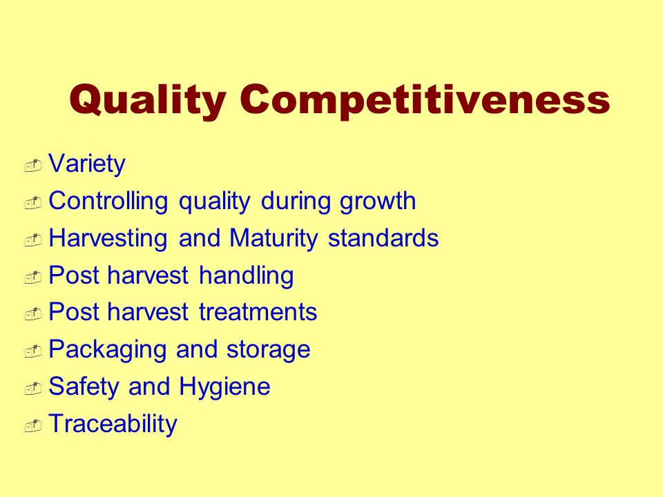 Quality Competitiveness
