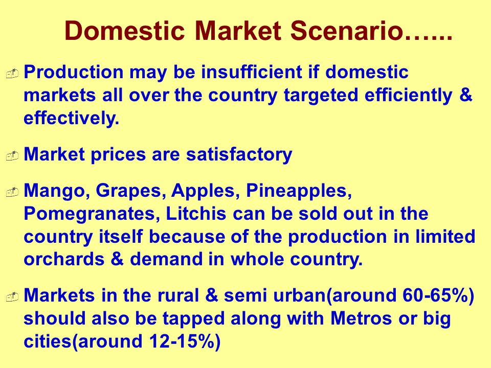 Domestic Market Scenario…...