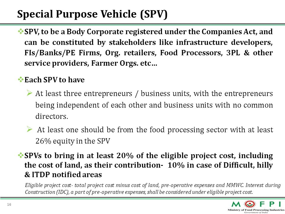 Special Purpose Vehicle (SPV)