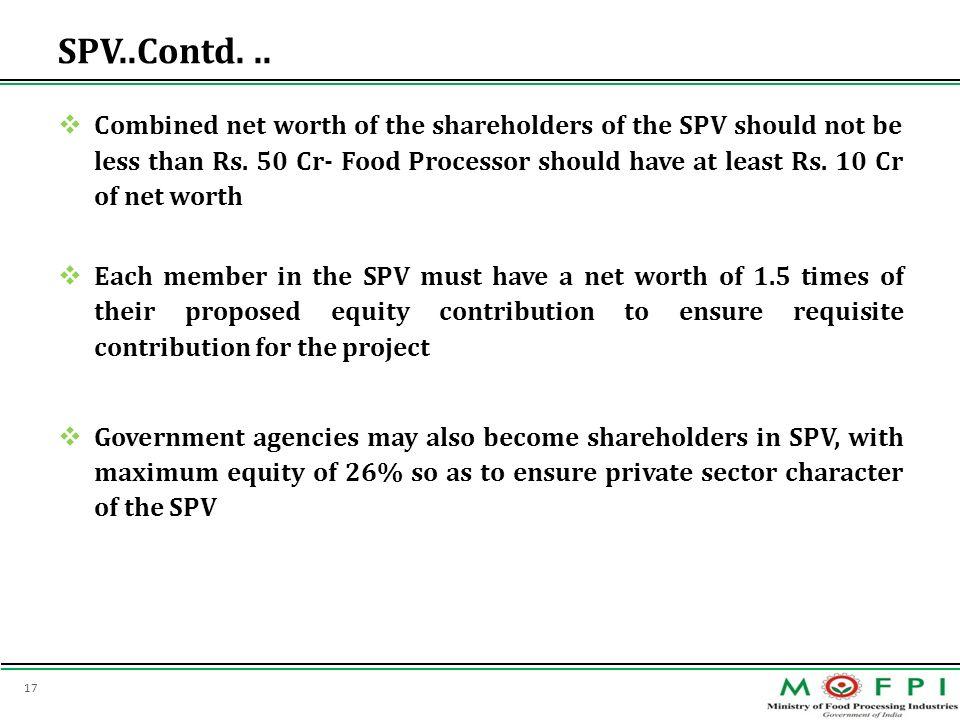 SPV..Contd. ..