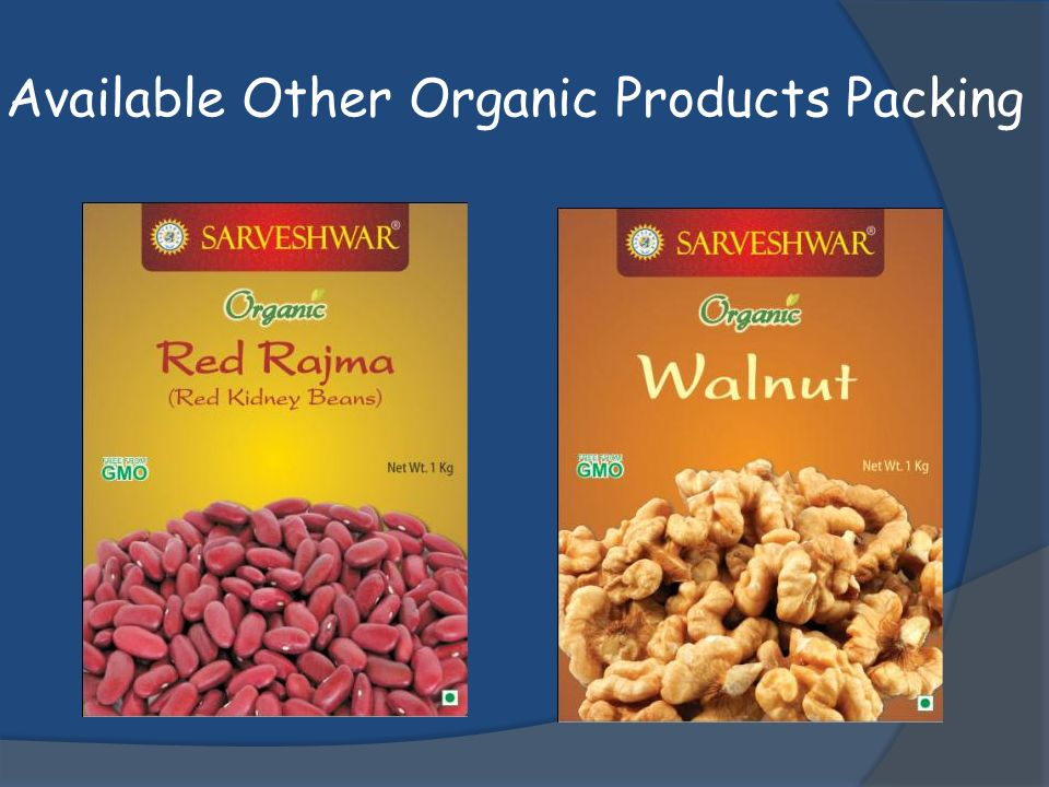 Available Other Organic Products Packing