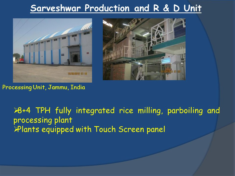 Sarveshwar Production and R & D Unit