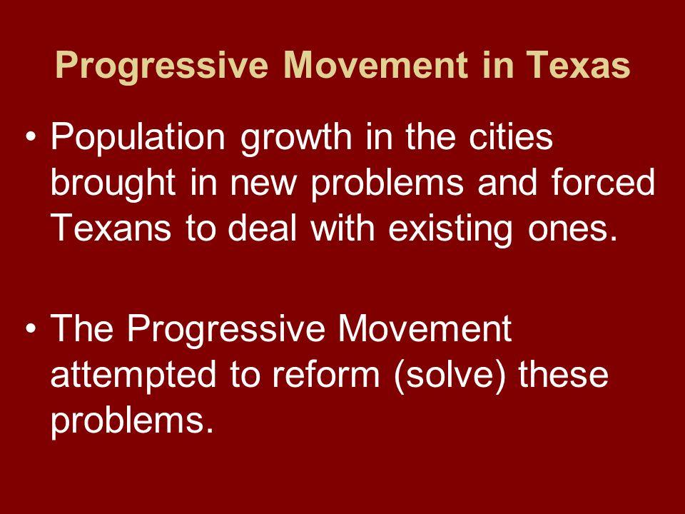 Progressive Movement in Texas