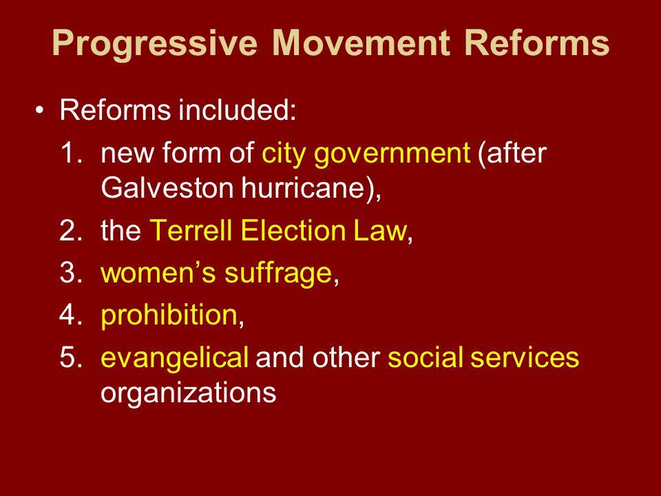 Progressive Movement Reforms
