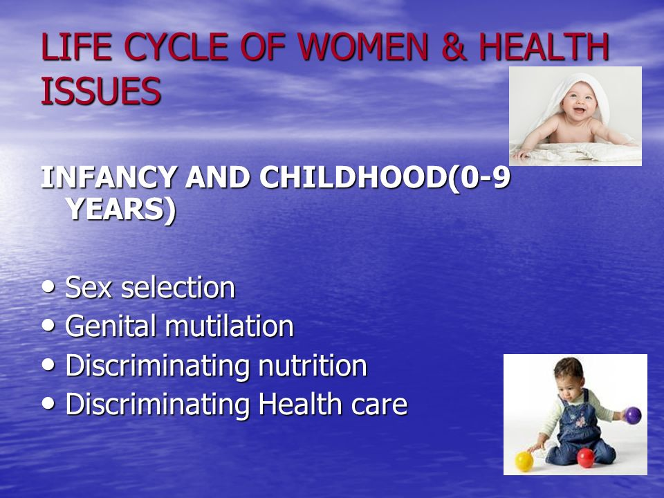 LIFE CYCLE OF WOMEN & HEALTH ISSUES