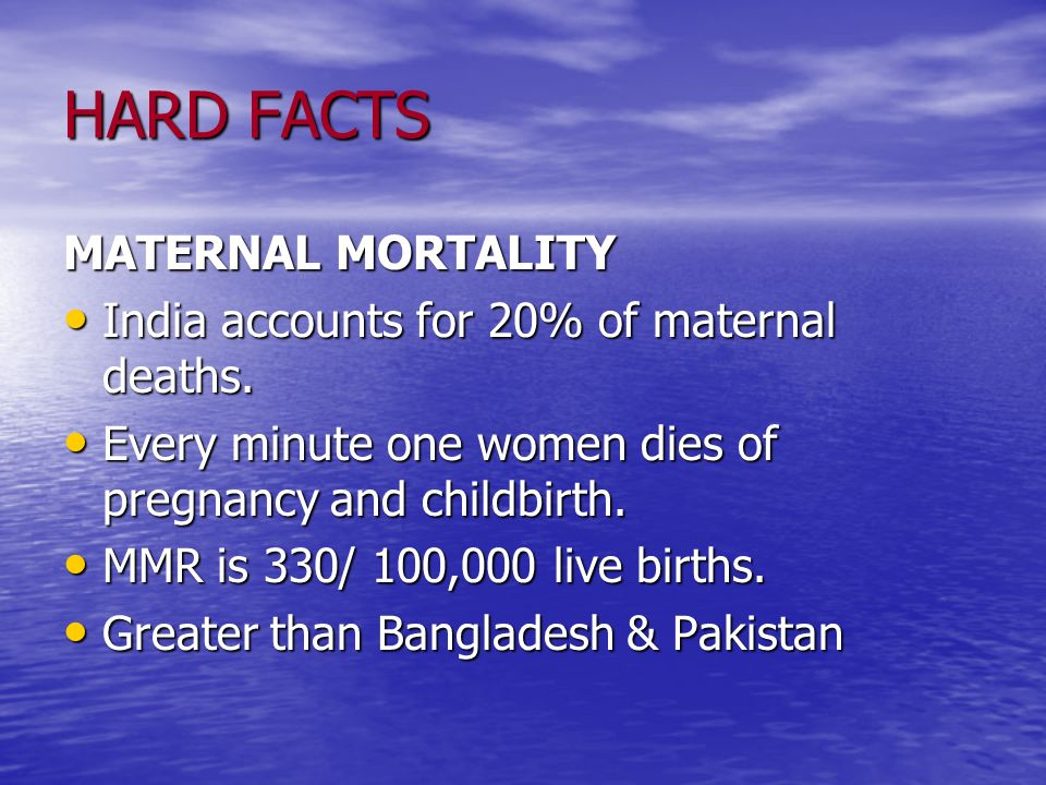 HARD FACTS MATERNAL MORTALITY