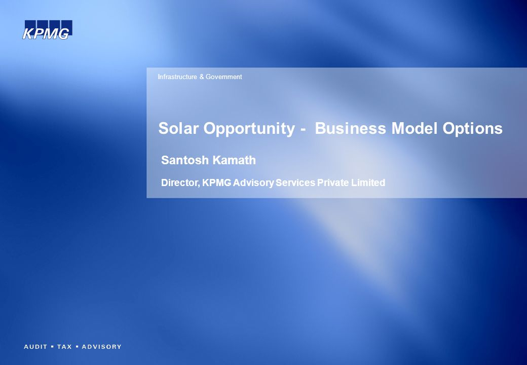 Solar Opportunity - Business Model Options