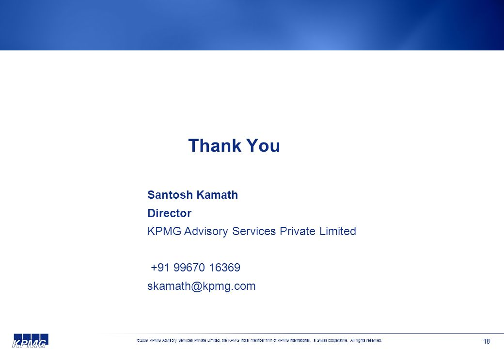 Thank You Santosh Kamath Director