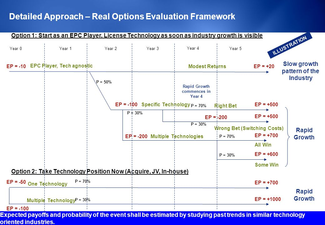 Detailed Approach – Real Options Evaluation Framework