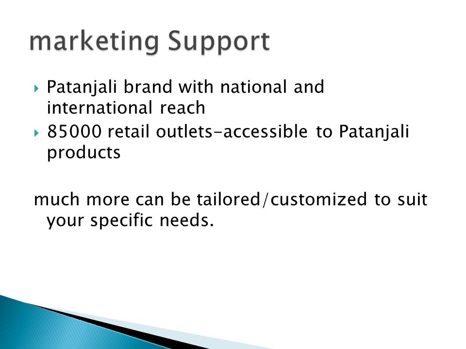 Patanjali brand with national and international reach