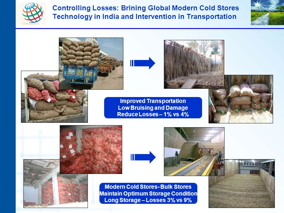 Controlling Losses: Brining Global Modern Cold Stores Technology in India and Intervention in Transportation