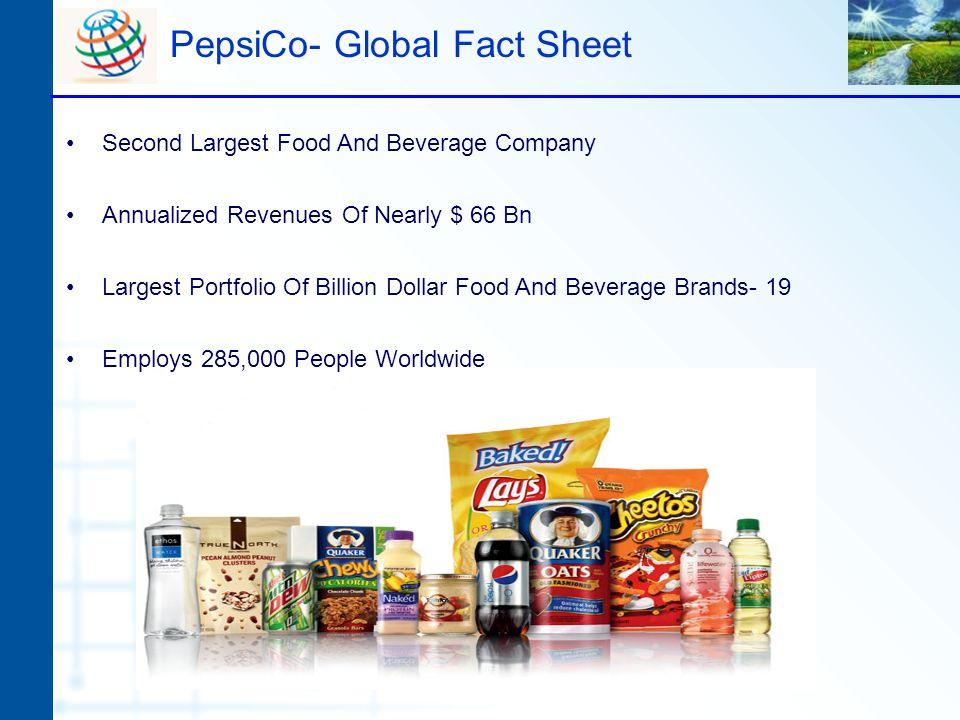 PepsiCo- Global Fact Sheet
