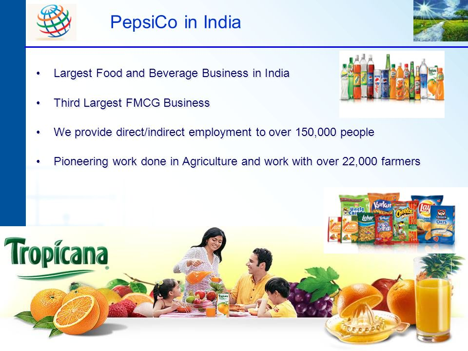 PepsiCo in India Largest Food and Beverage Business in India
