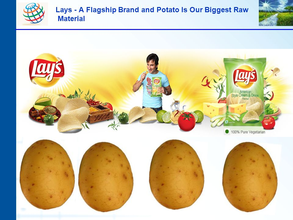 Lays - A Flagship Brand and Potato Is Our Biggest Raw Material