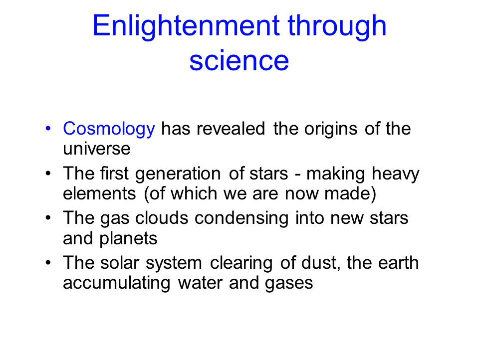 Enlightenment through science