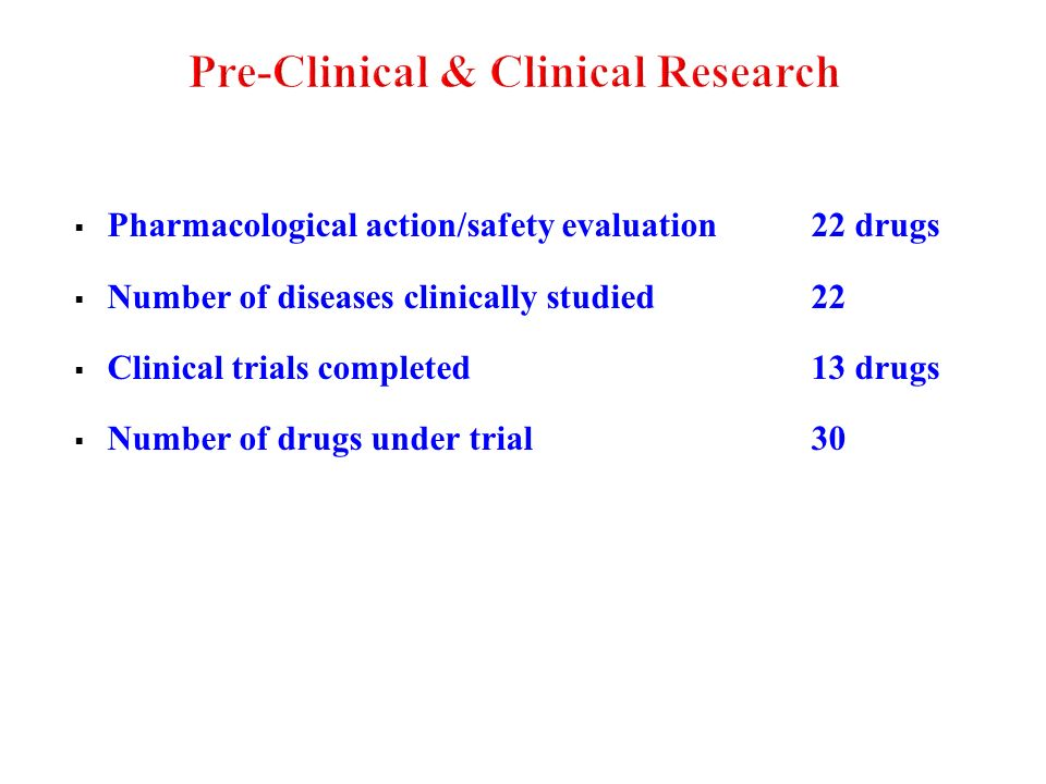 Pre-Clinical & Clinical Research