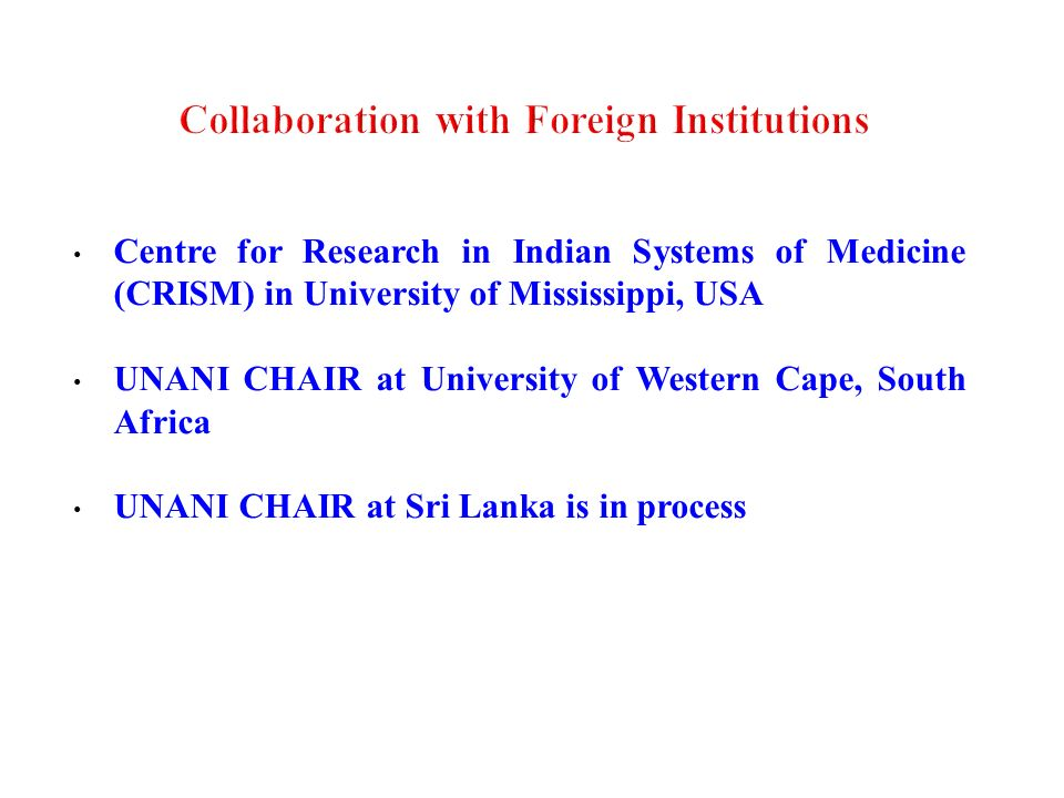 Collaboration with Foreign Institutions