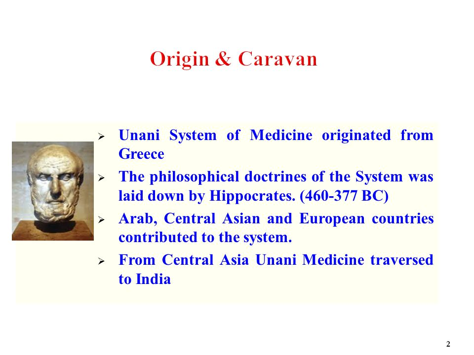 Origin & Caravan Unani System of Medicine originated from Greece