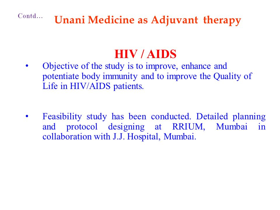 Unani Medicine as Adjuvant therapy