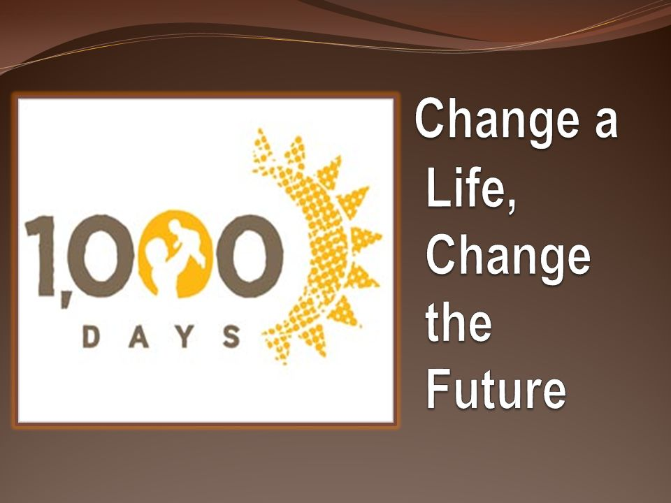 Change a Life, Change the Future