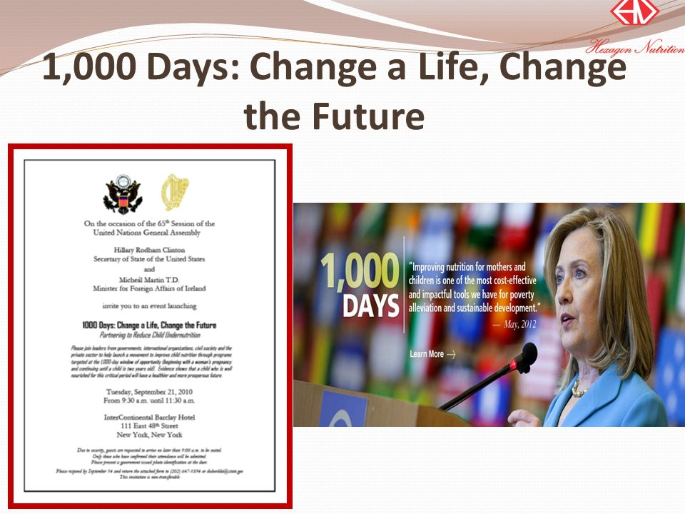 1,000 Days: Change a Life, Change the Future
