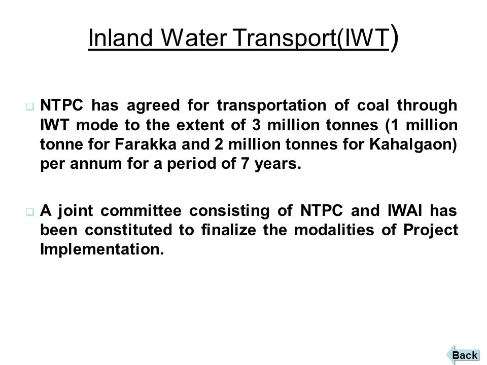 Inland Water Transport(IWT)