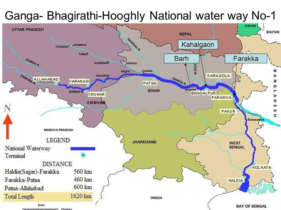 Ganga- Bhagirathi-Hooghly National water way No-1