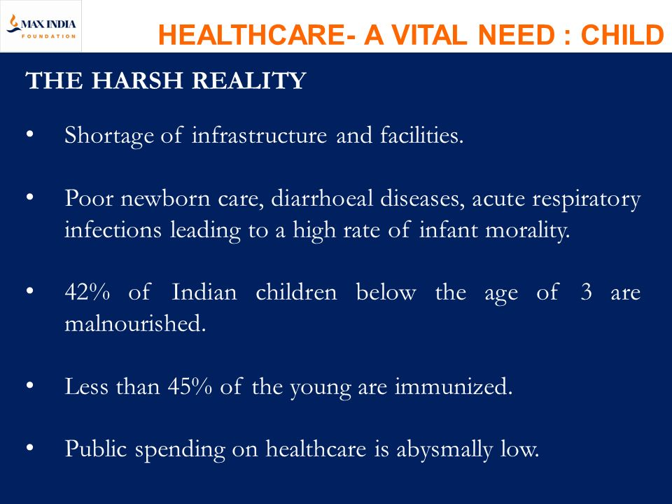 HEALTHCARE- A VITAL NEED : CHILD
