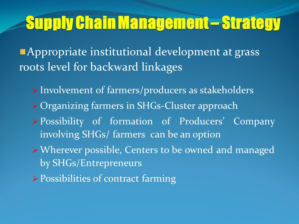 Supply Chain Management – Strategy