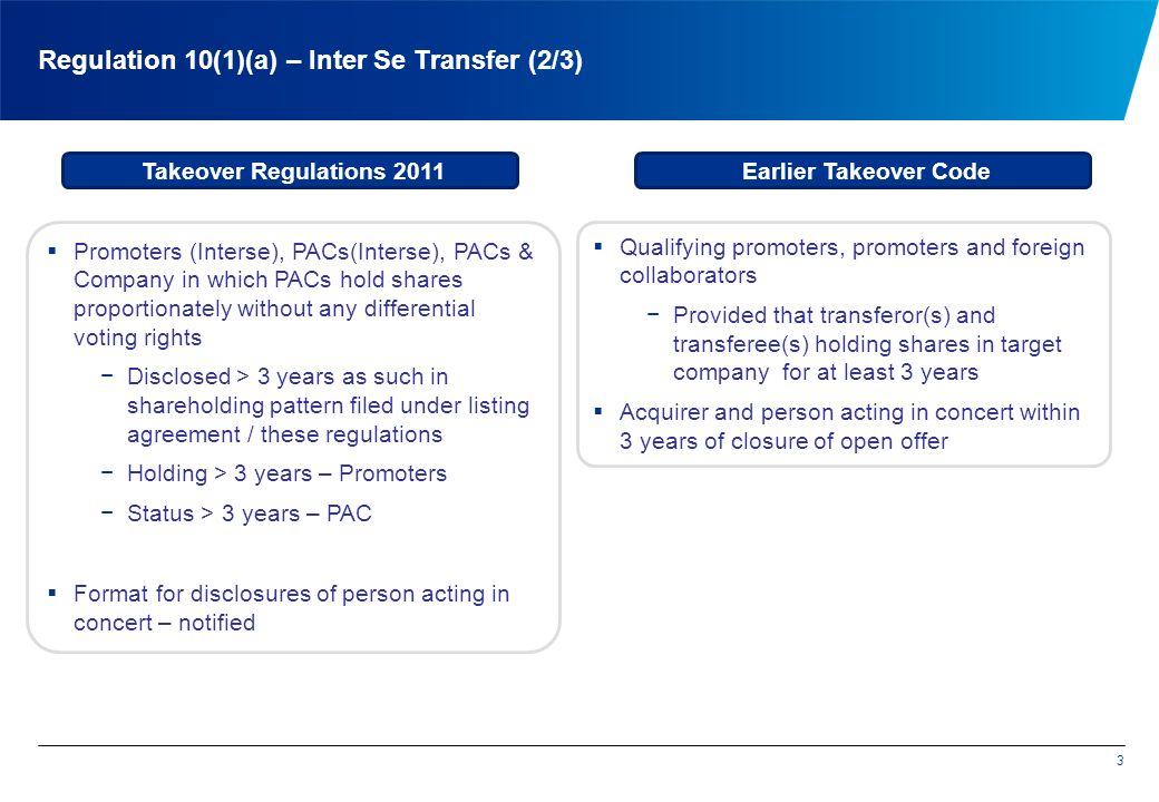 Regulation 10(1)(a) – Inter Se Transfer (2/3)