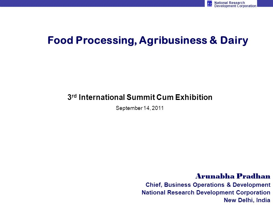 Food Processing, Agribusiness & Dairy