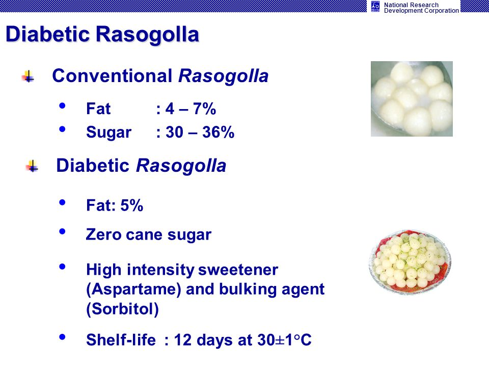 Diabetic Rasogolla Conventional Rasogolla Diabetic Rasogolla